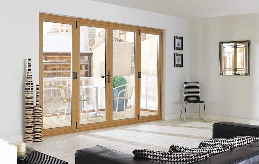 Oak framed double glazed door