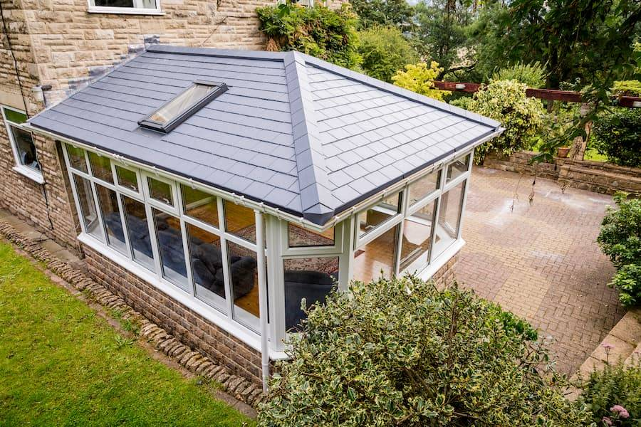 Equinox tiled roofing on large conservatory