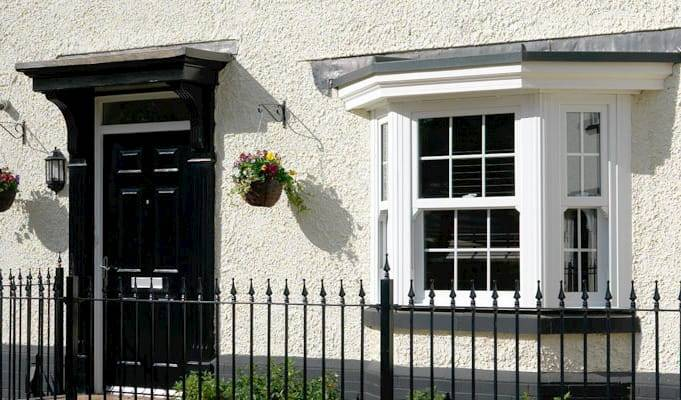 Double glazed bay window